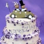WEDDING CAKE: un lilla versione informale per gli sposi più giovani