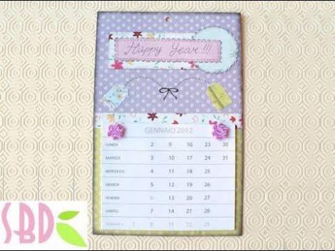 Calendario Fai Da Te Con Foto.Idee Regalo Calendario Scrapbooking Fai Da Te