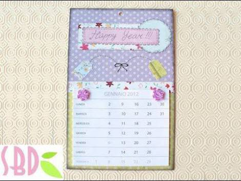 Idee Calendario.Idee Regalo Calendario Scrapbooking Fai Da Te