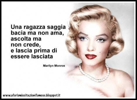 Citazioni Famose Una Ragazza Saggia Secondo Marilyn Monroe