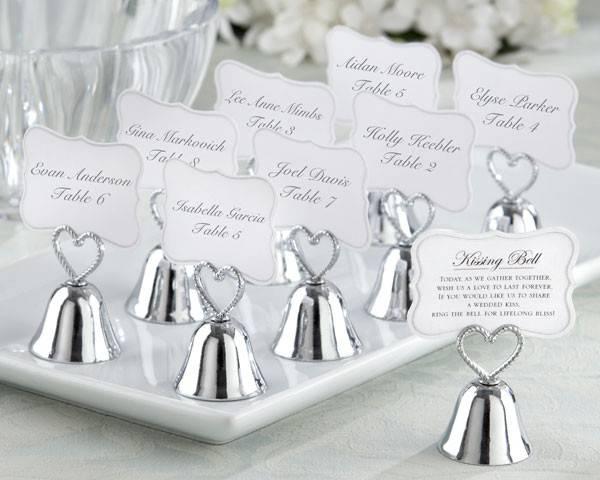 Segnaposto Matrimonio Sposi.Segnaposto Matrimonio Campanelle Per Acclamare Un Bacio Degli Sposi