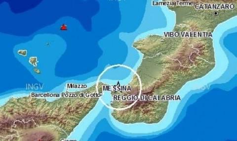 Terremoti, scossa del 4,6 grado nello Stretto di Messina$