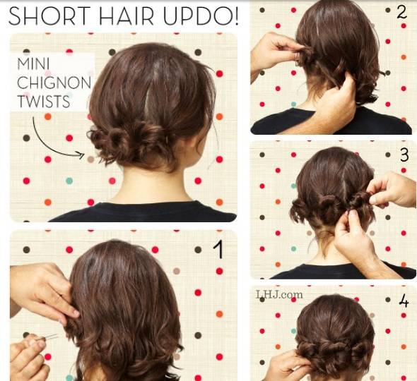 Tutorial Acconciature Capelli Corti Raccolti Klingedingen