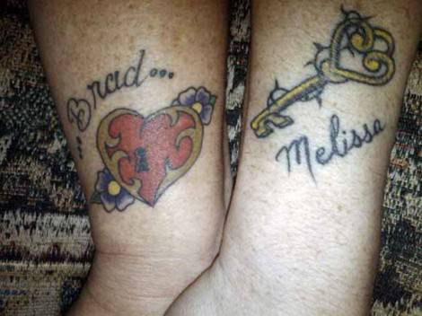tatuaggio-di-coppia-con-cuore-e-chiave