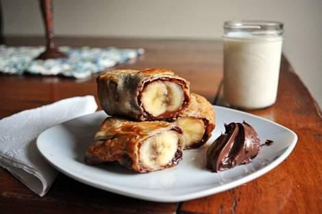 banana nutella wrap