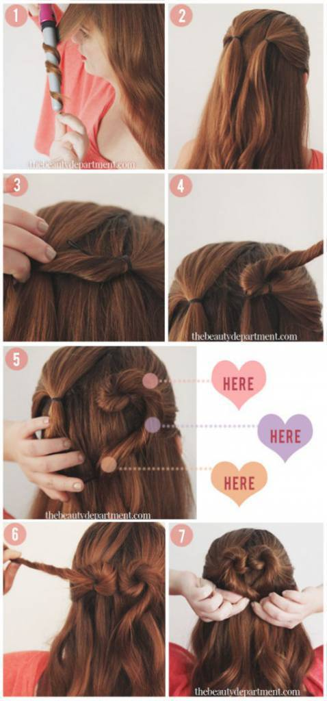 tutorial capelli cuore
