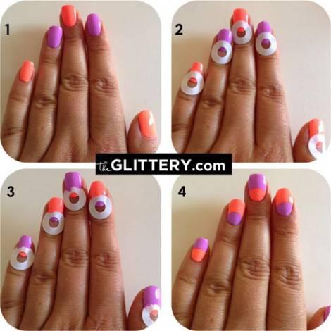 nail art mezza luna
