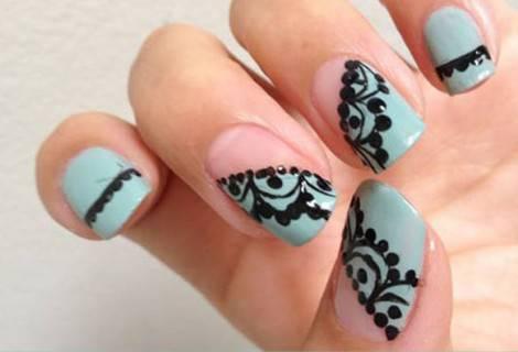 nail art pizzo - Copia