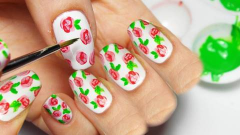 Nail Art Roses Tutorial Nail Art Rose
