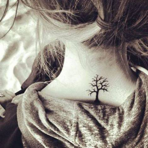 neck tatoo albero