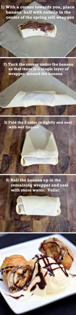 rotolo banana nutella