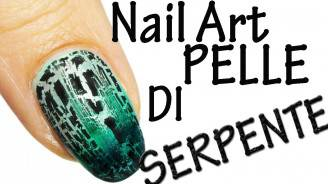 nail art pelle di serpente
