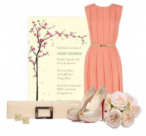 wholesale dealer 0a01d 6542d Outfit completo per un matrimonio rosa pesca
