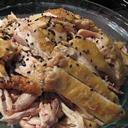 pollo freddo con salsa allo zenzero