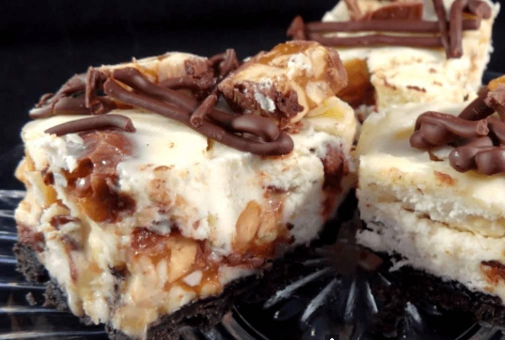 Super Snickers Bars Cheesecake, torta deliziosa per i più golosi  RC12