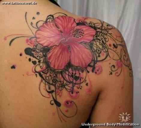 Fiori Hawaiani Tattoo.I Piu Bei Tatuaggi Con Il Fiore Di Ibisco E Il Loro Significato