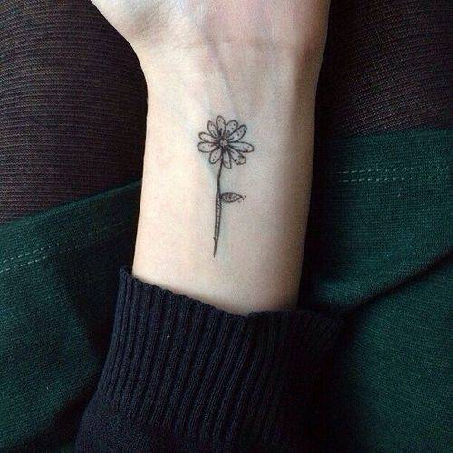 Gallery For Simple Daisy Tattoo Tumblr
