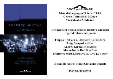 Invito Mussapi - Milano