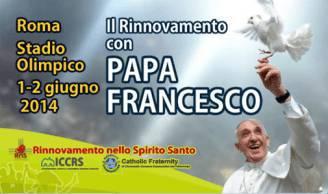 Papa Francesco con Rinnovamento nello Spirito Santo