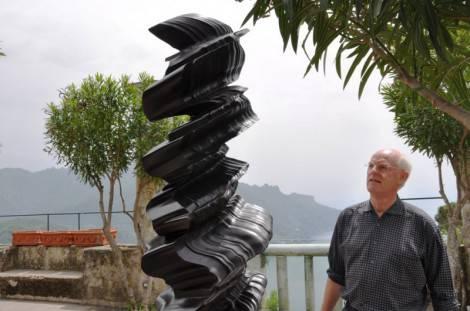 Tony Cragg sul Belvedere di Villa Rufolo_b