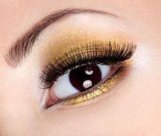 trucco-occhi-marroni-oro