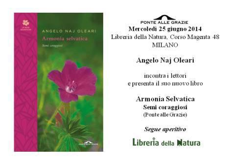 Invito Naj Oleari- Milano