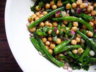 grazer green bean chickpea herb salad