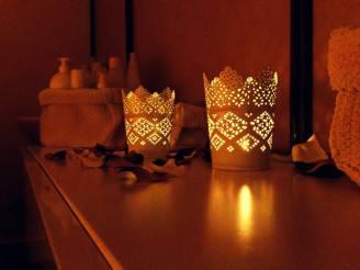 angolo massaggio con candele