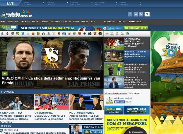 nuovo sito calciomercato.it