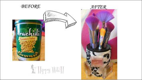 Porta pennelli per makeup fai da te - Porta pennelli fai da te ...