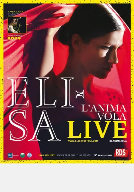 Elisa_Manifesto_L'ANIMA VOLA LIVE ARENA DI VERONA