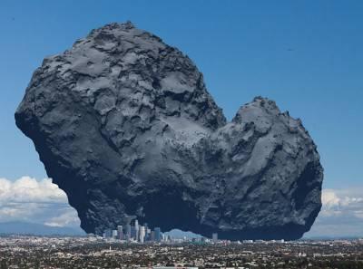 Una cometa, paragonata alla città di Los Angeles.
