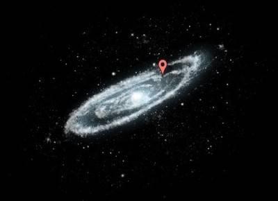 La Terra, all'interno della nostra Galassia.