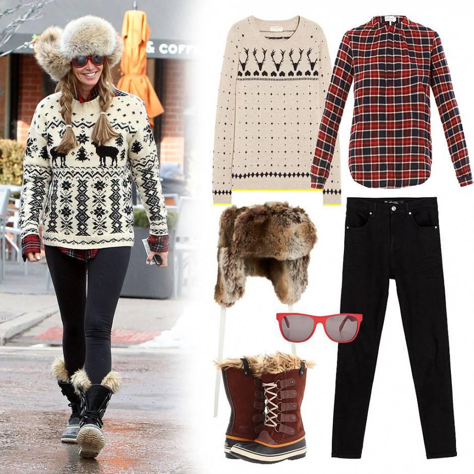 Outfit per un Natale casual in stile nordico