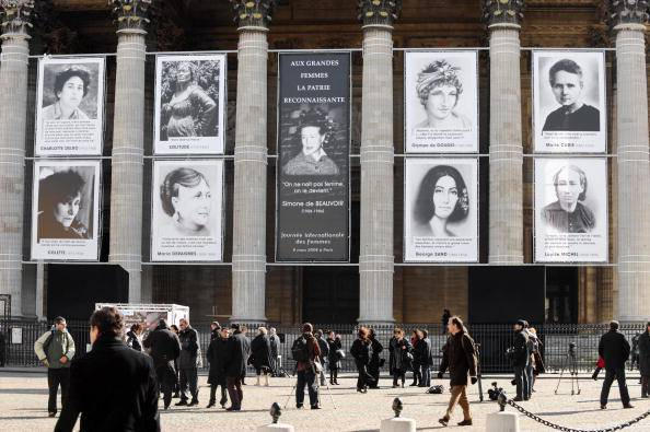 Pictures of nine famous French feminists