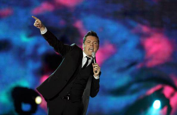 Tiziano Ferro performs during the World