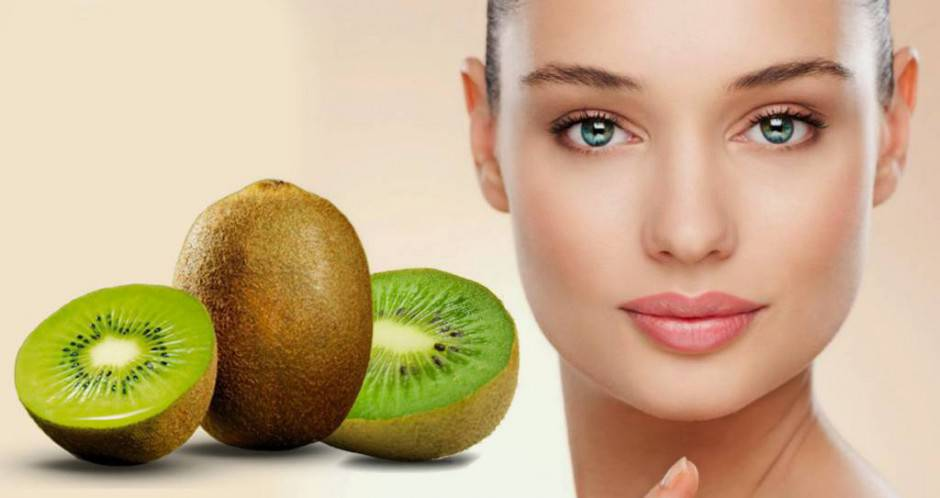 Kiwi mask for skin supple