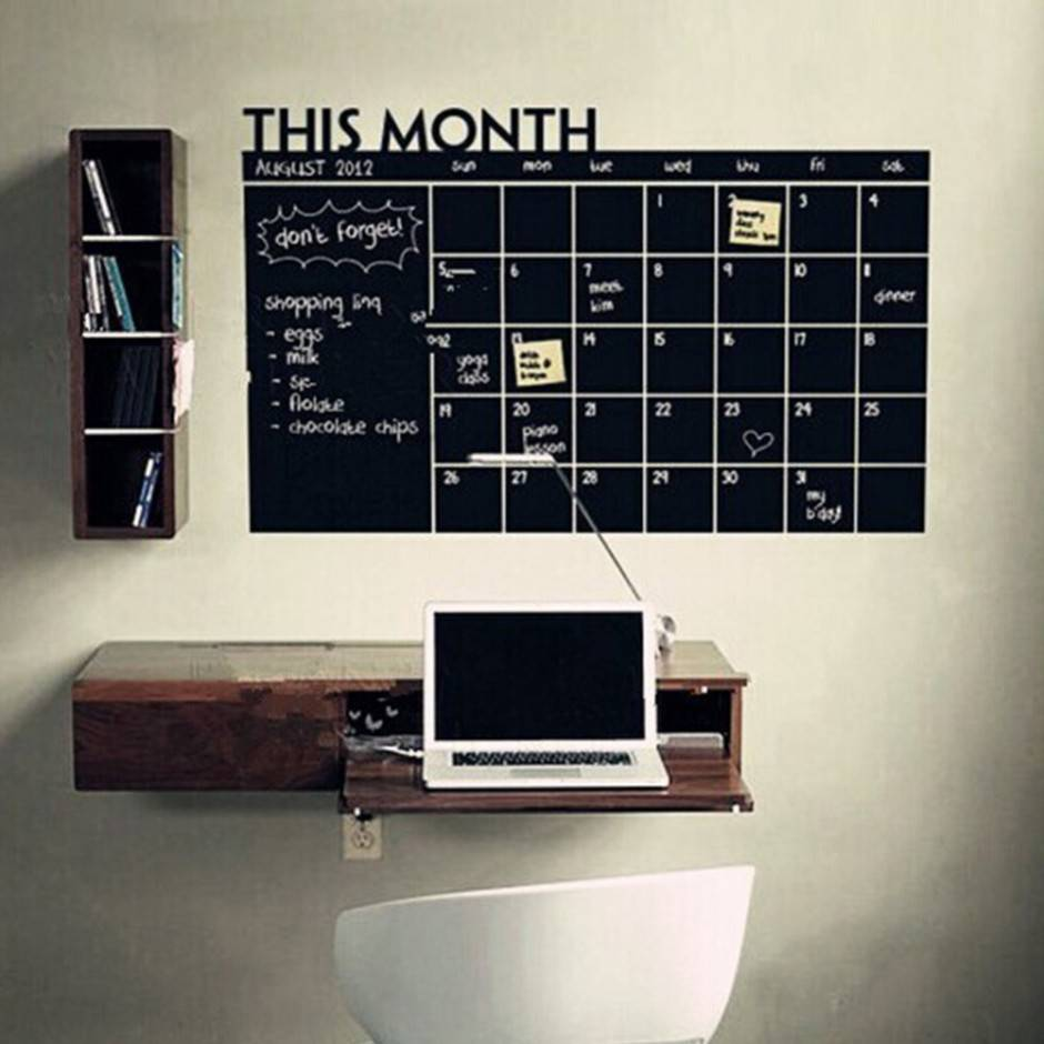 New-Month-Plan-Calendar-Chalkboard-MEMO-Blackboard-Vinyl-Wall-Sticker-Vogue-PVC-Wall-Sticker-art-Decals