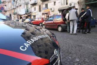 Italian Carabinieri check people in the