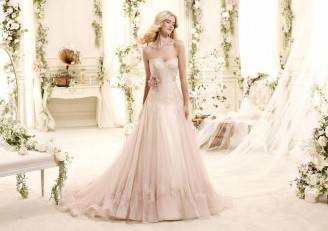 Abito-da-sposa-color-rosa-cipria-2015-Nicole-Spose-mod-Ebbie
