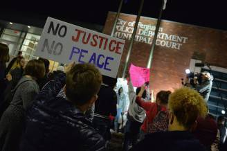 Protests In Ferguson After Resignation Of Police Chief