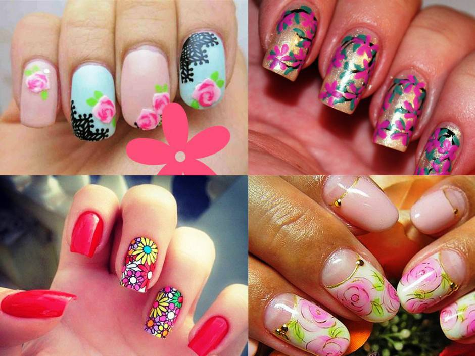 flower-nail-art-trend-in-this-fall-2015