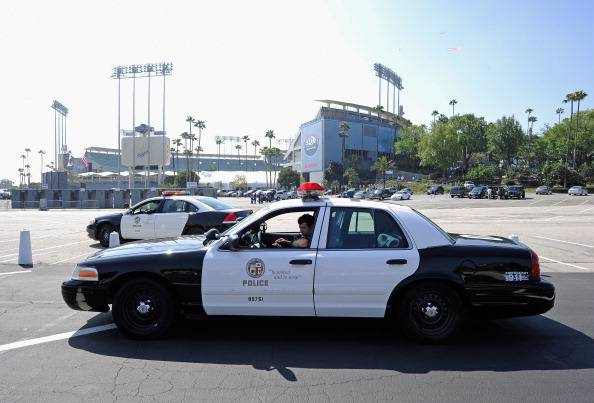 Security High At Los Angeles Dodger's Home Opener