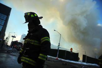 Six-Alarm Fire Rages On Brooklyn's Waterfront