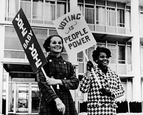 Pro-Voting Female Demonstrators