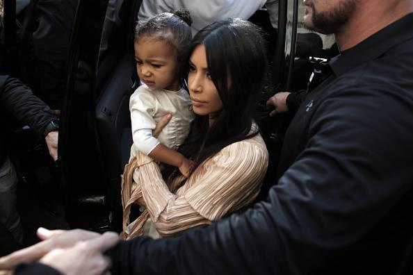 Kim Kardashian con la figlia @Gettyimages