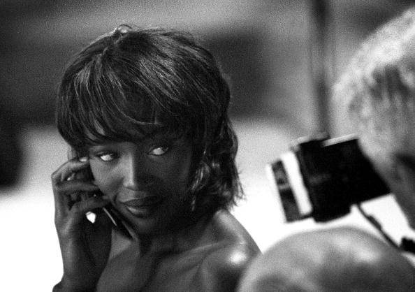 Supermodel Naomi Campbell poses for a photographer