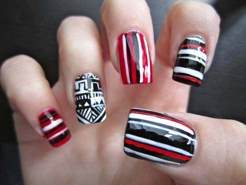 acrylic-nail-tribal-designs-images