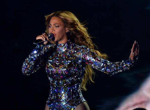 Beyonce performs on stage at the MTV Video Music Awards (VMA), August 24, 2014 at The Forum in Inglewood, California.  AFP PHOTO / ROBYN BECK        (Photo credit should read ROBYN BECK/AFP/Getty Images)