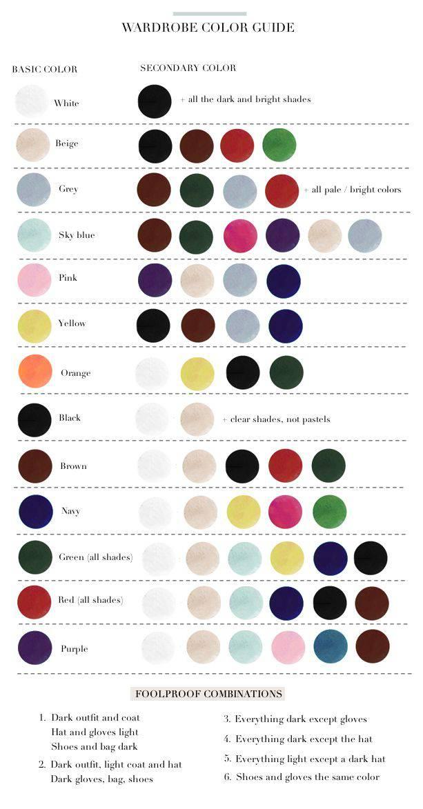 piccola guida dei colori: come abbinare le tonalità negli outfit